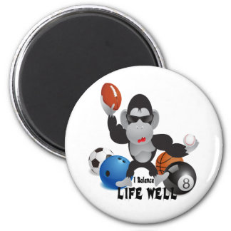 Balance Sports Life Well 2 Inch Round Magnet
