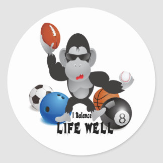Balance Sports Life Well Classic Round Sticker