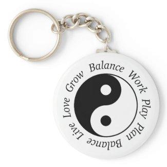 Balance Yin Yang Keychain
