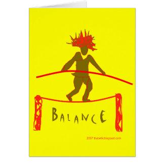 Balance...Yoga Design Greeting Card