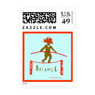 Balance...Yoga Design Postage Stamp