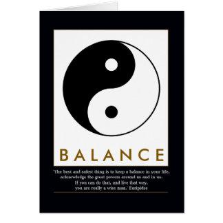 balance yoga yin yang with quote card