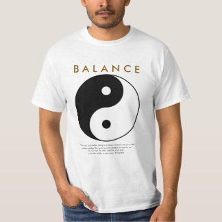 balance yoga yin yang with quote T-Shirt