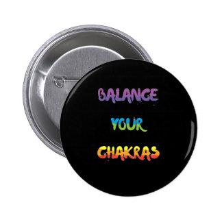 Balance your chakras Badge Button