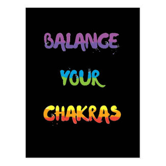 Balance your chakras Postcards