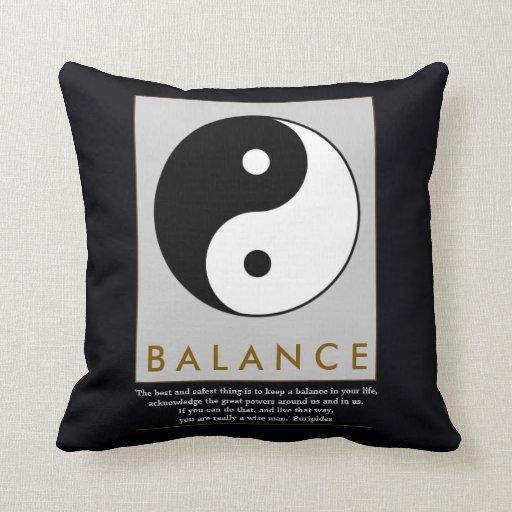 balance zen yin yang throw pillow
