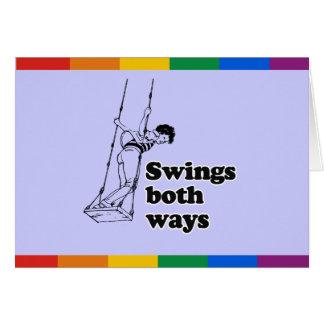 Balancea ambas maneras tarjeta de felicitación