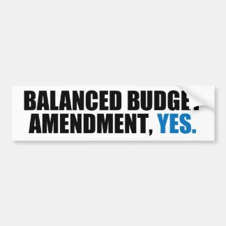 Balanced Budget Amendment Bumper Stickers