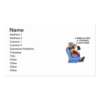 Balanced Chocolate Diet Double-Sided Standard Business Cards (Pack Of 100)