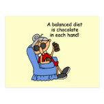 Balanced Chocolate Diet Post Cards