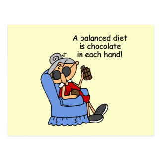 Balanced Chocolate Diet Post Cards