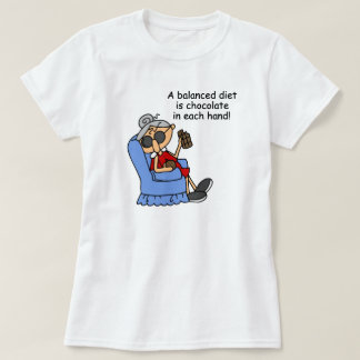 Balanced Chocolate Diet T-Shirt