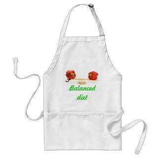 Balanced diet adult apron
