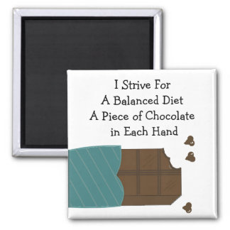 Balanced Diet - Chocolate in Each Hand Magnet