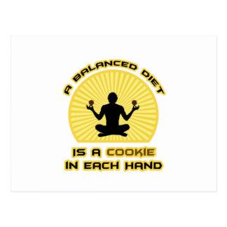 Balanced Diet: Cookie in Each Hand Postcard