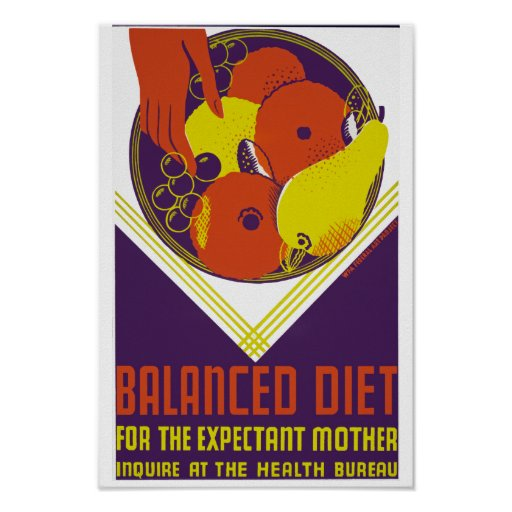 Balanced Diet for the Expectant Mother Posters