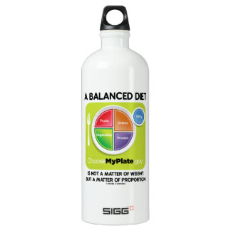 Balanced Diet Not A Matter Weight But Proportion Aluminum Water Bottle