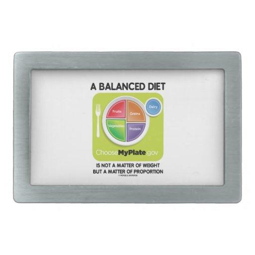 Balanced Diet Not A Matter Weight But Proportion Belt Buckle