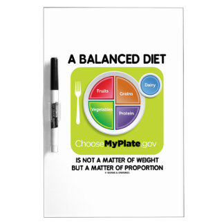 Balanced Diet Not A Matter Weight But Proportion Dry Erase Board