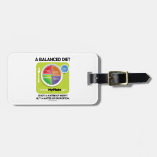 Balanced Diet Not A Matter Weight But Proportion Tags For Luggage