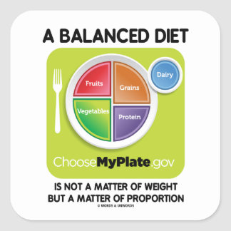 Balanced Diet Not A Matter Weight But Proportion Square Sticker
