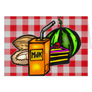 Balanced Meals Stationery Note Card