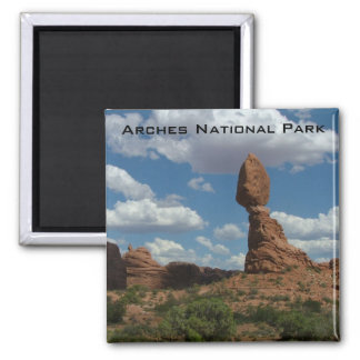 Balanced Rock 2 Inch Square Magnet