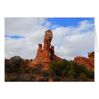 Balanced Rock, Arches National Park, Utah Card