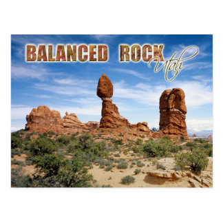 Balanced Rock, Arches National Park, Utah Post Cards