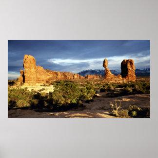Balanced Rock Panoramic Poster