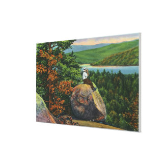 Balanced Rock View of Fulton Chain of Lakes Canvas Print