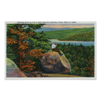 Balanced Rock View of Fulton Chain of Lakes Poster