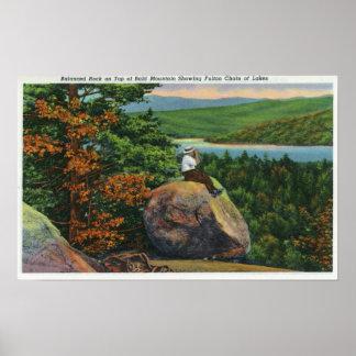 Balanced Rock View of Fulton Chain of Lakes Print