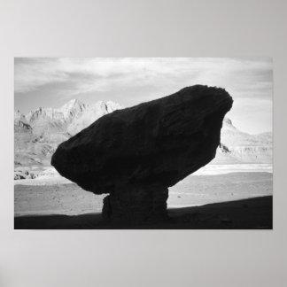 Balanced Rock, Zen Marble Canyon Arizona USA 1965 Poster