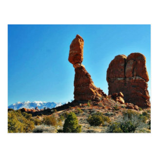Balanced Stone At Arches National Park Postcard