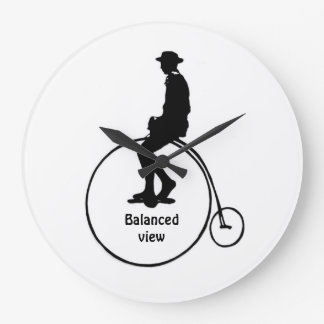 Balanced view large clock