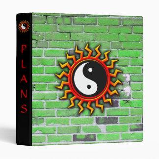 Balanced Yin Yang Sun and Brick Binder
