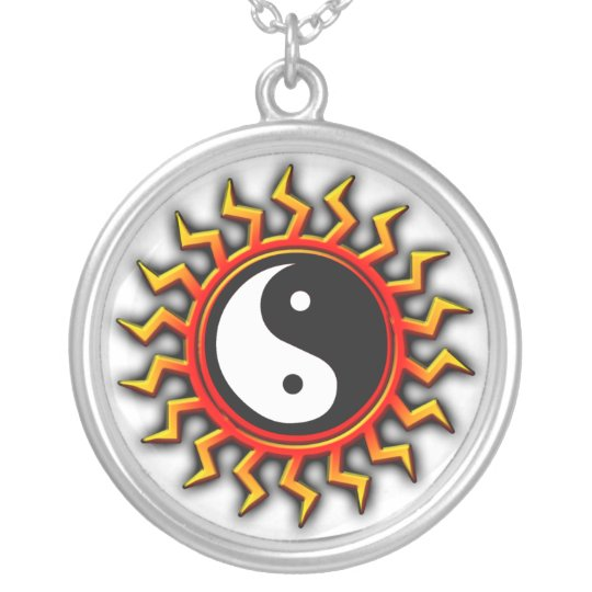 Balanced Yin Yang Sun Necklace