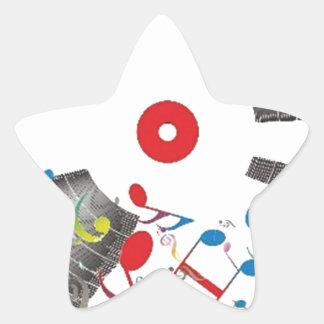 Balancee el sonido pegatina en forma de estrella