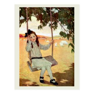 Balanceo del chica postales