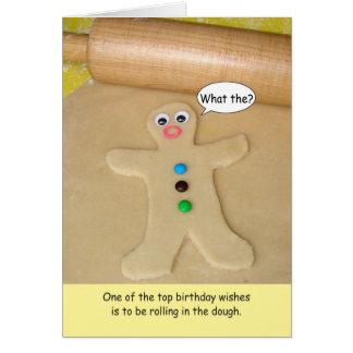 Balanceo del feliz cumpleaños en la tarjeta de fel