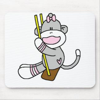 Balanceo del mono del calcetín tapete de ratones