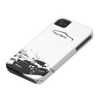 """Balanceo del mustango tirado - """"añada su propio iPhone 4 Case-Mate protector"""