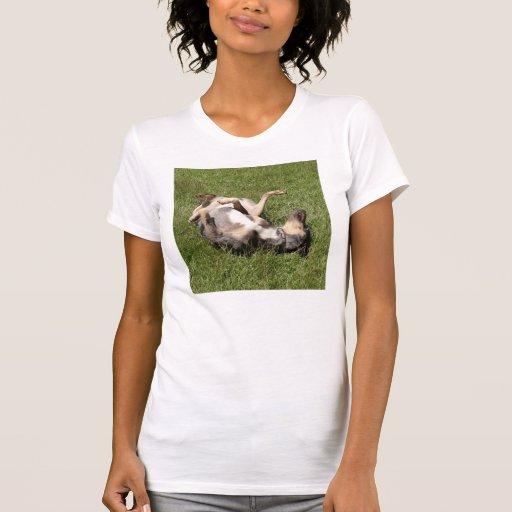 Balanceo del perro del cerdo del leopardo de camiseta