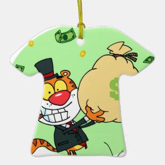 Balanceo feliz del tigre en el dinero ornamento de reyes magos
