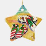 Balanceos del día de fiesta - ornamento de la estr ornamento de navidad