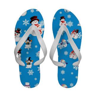 Balanceos del navidad de los muñecos de nieve sandalias
