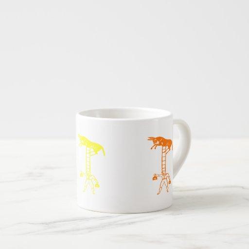 Balancing a Living Donkey ~ 6oz Espresso Cup / Mug