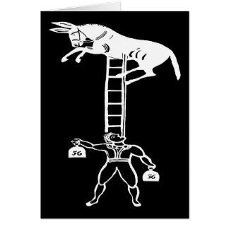 Balancing a Living Donkey ~ Card