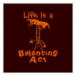 Balancing a Living Donkey ~ COLOR CHANGE 40x40 Pos Poster